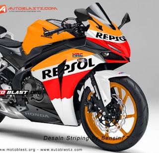 CBR250RR Desain Striping REPSOL