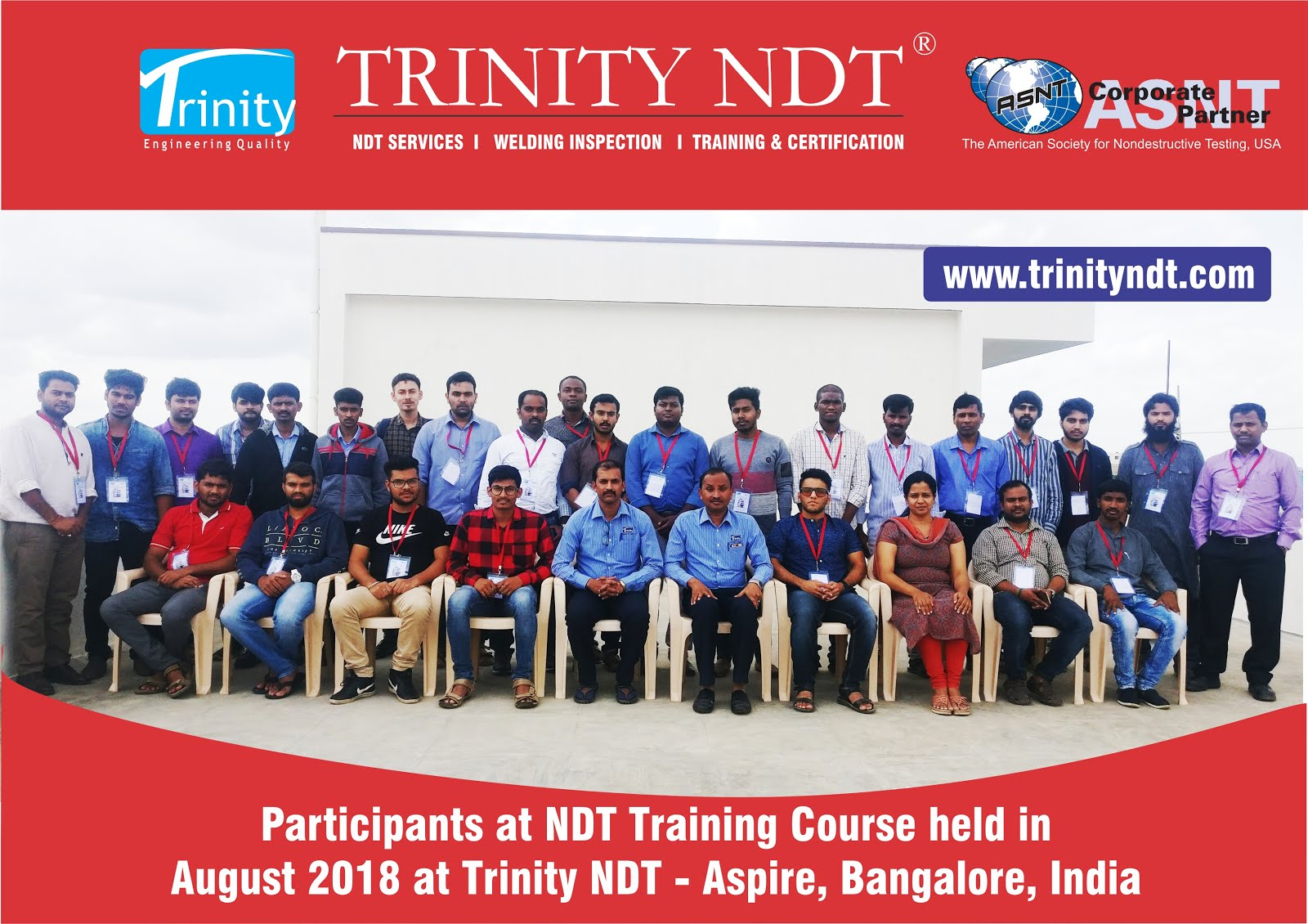 NDT Level 2 Training Participants - August 2018