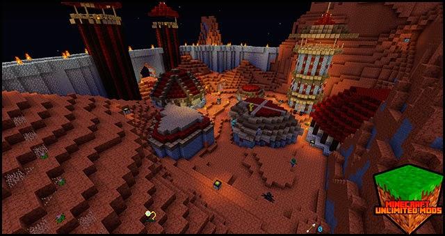 Hexxit Mod Pack ATLauncher Minecraft castles