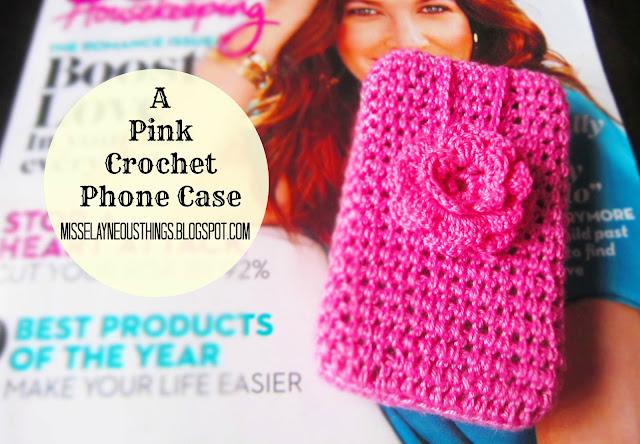 A Pink Crochet Cellphone Case