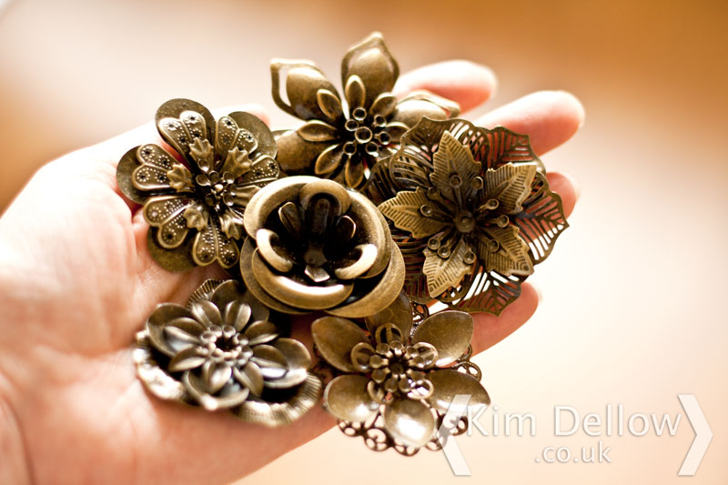 Famous Metal Flower Bouquet Adornment - Best Evening Gown ...