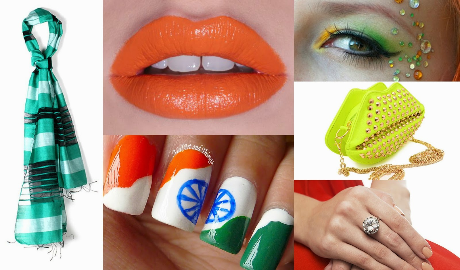 Style-Sensibility: TRICOLOR MAKE-UP NAILS AND ACCESSORIES