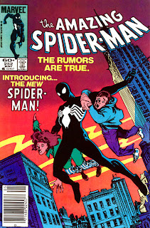 Amazing Spider-Man 252 cover. 1st Appearance of black costume