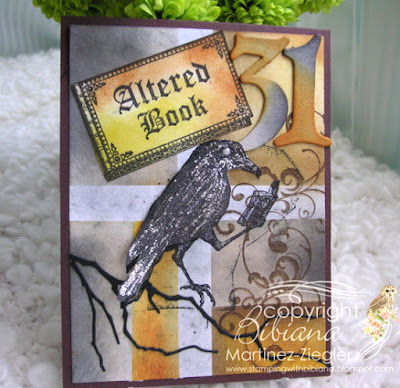 Halloween crow card with Lost Coast Designs stamps