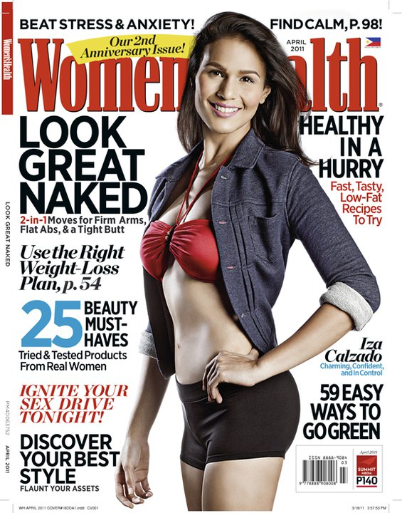 Women s health describes iza calzado on their april 2011 issue in 3
