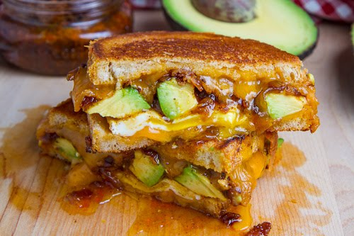 Bacon Jam and Avocado Grilled Cheese Sandwich on Closet ...