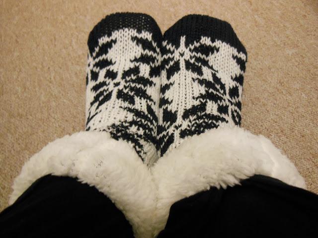 Festive fluffy socks