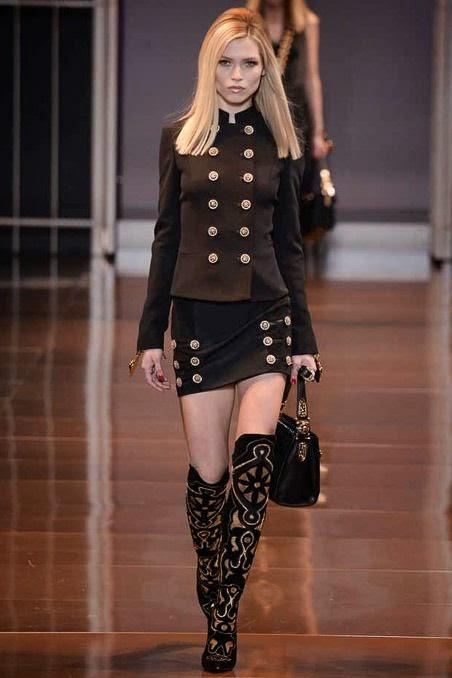 Versace Fall 2014 RTW - Runway Photos - Fashion Week - Runway, Fashion Shows and…