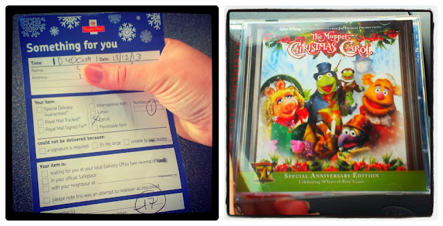 Post Office Delivery Card and The Muppet Christmas Carol CD