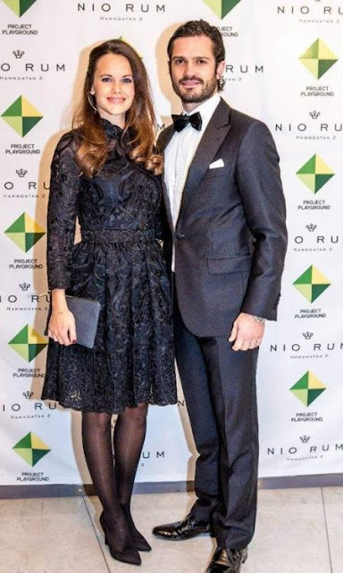 Princess Sofia & Prince Carl Philip  Attends A Charity Dinner