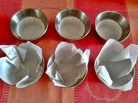 Moldes para muffins de frutas y chocolate