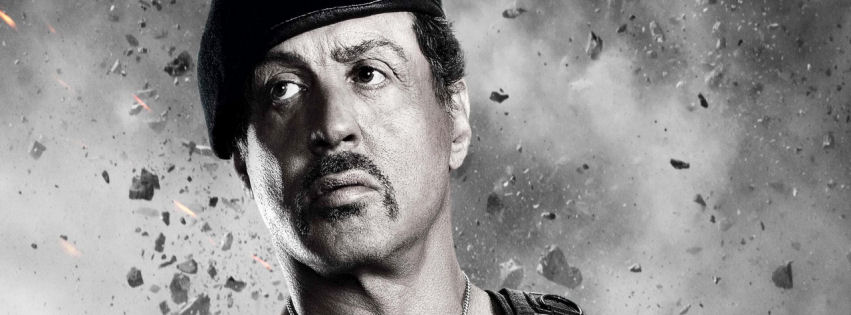 Sylvester Stallone in expendables 2 facebook cover