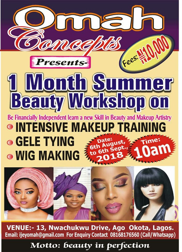 Intensive Makeup Training In Lagos