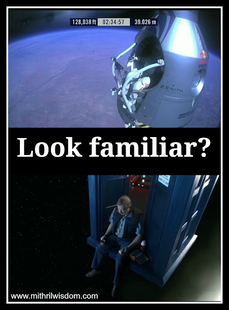 Felix Baumgartner jump looks like scene from Doctor Who