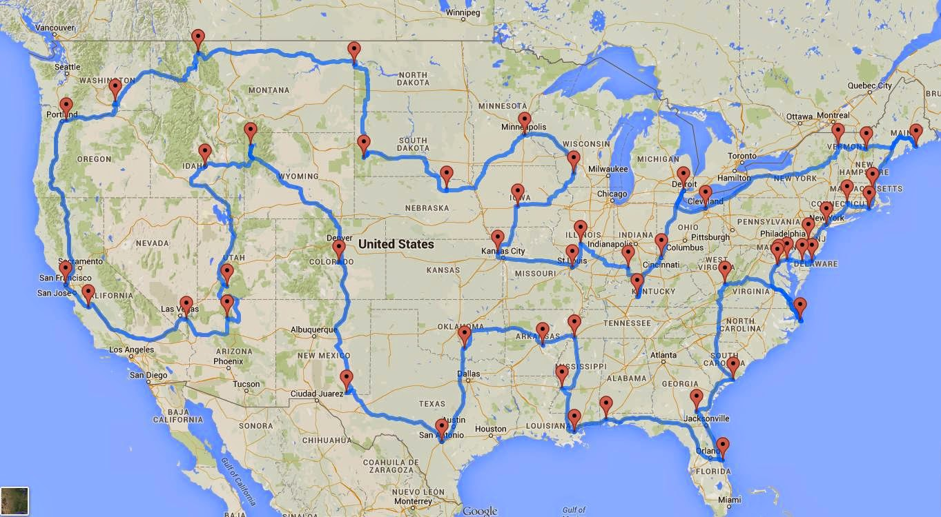 This Is The Perfect US Road Trip According To Scientists Rv - Us road trip map