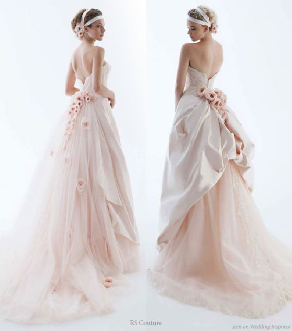light pink wedding gown 2 bridal fashion wedding ideas