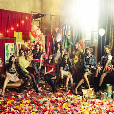 Girls' Generation Love and Peace Concept Photo