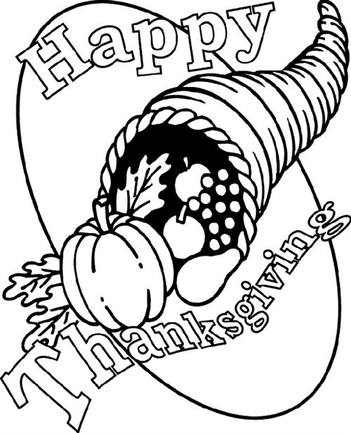 Free Thanksgiving Pictures To Color And Print