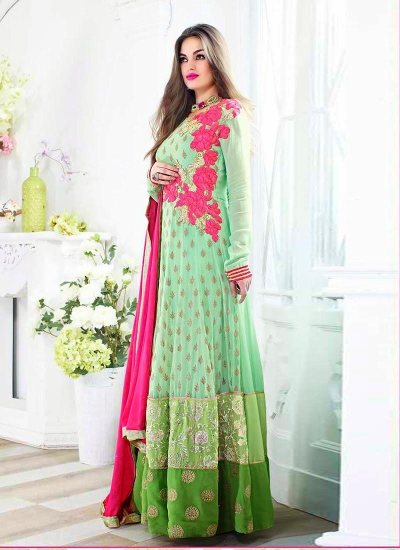 Mint Green Designer Wear Salwar Kameez