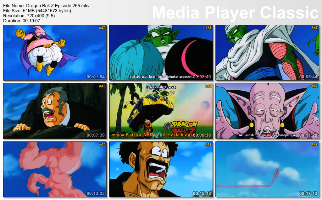 Film / Anime Dragon Ball Z Majin Buu Saga Episode 255 Bahasa Indonesia