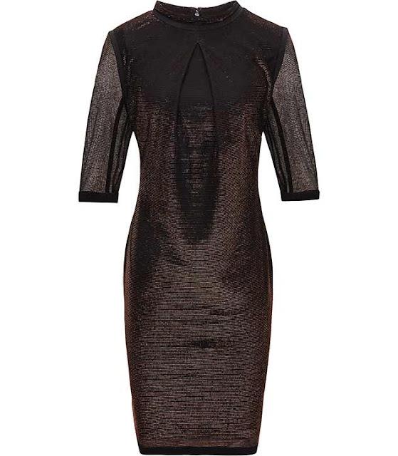 bronze dress