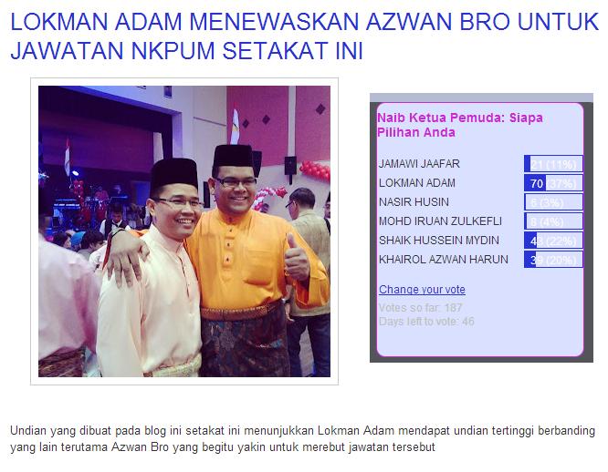 lokman adam naib ketua pemuda umno