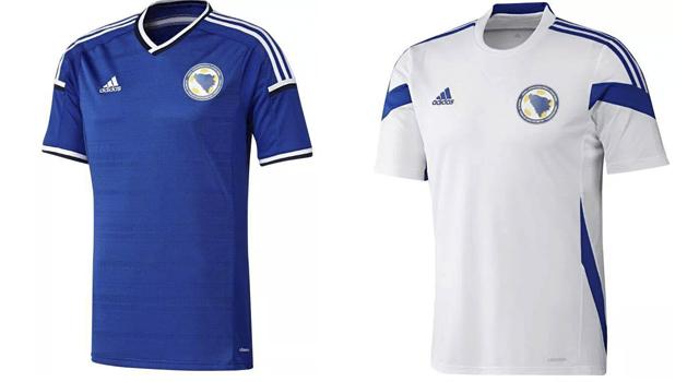 Camisetas selección Bosnia Mundial 2014