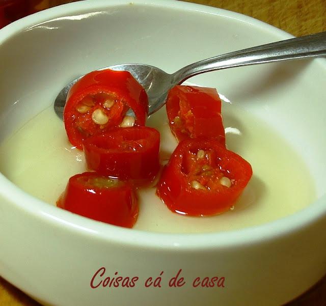 Conserva de pimenta dedo-de-moça