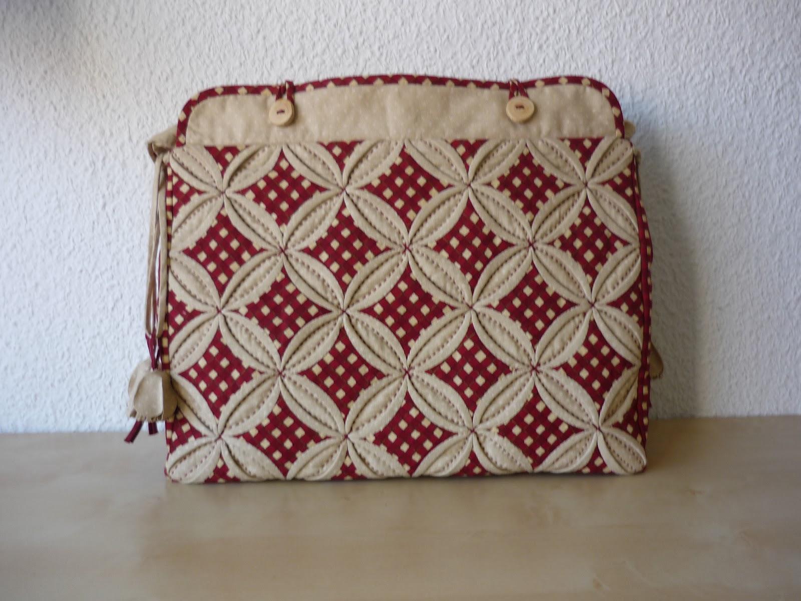Coser y coser patchwork bolso nuevo y de color rojo - Como hacer pachwork ...