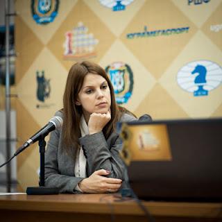 La journaliste et joueuse d'échecs Anastasia Karlovich - Photo © ChessBase