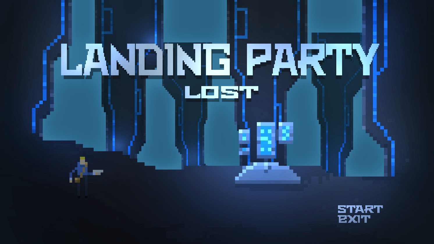 Landing Party Lost Main Menu Game Scree Mockup