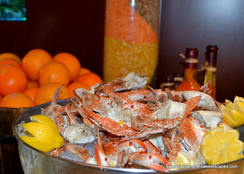 seafood at Al Murjan in Oceanic Hotel