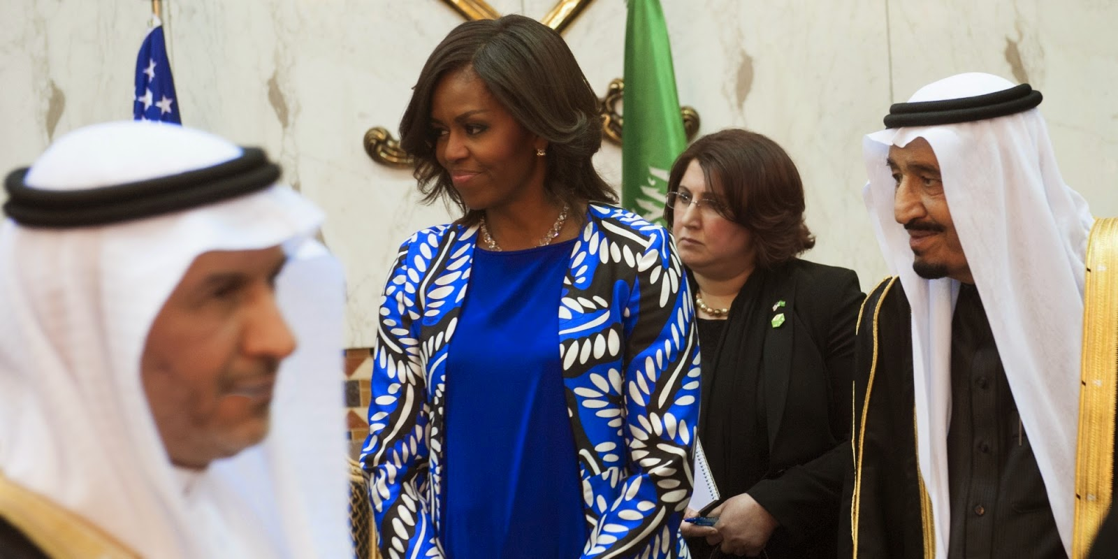 Some Saudis criticized Michelle Obama's decision not to cover her head on her Saudi visit