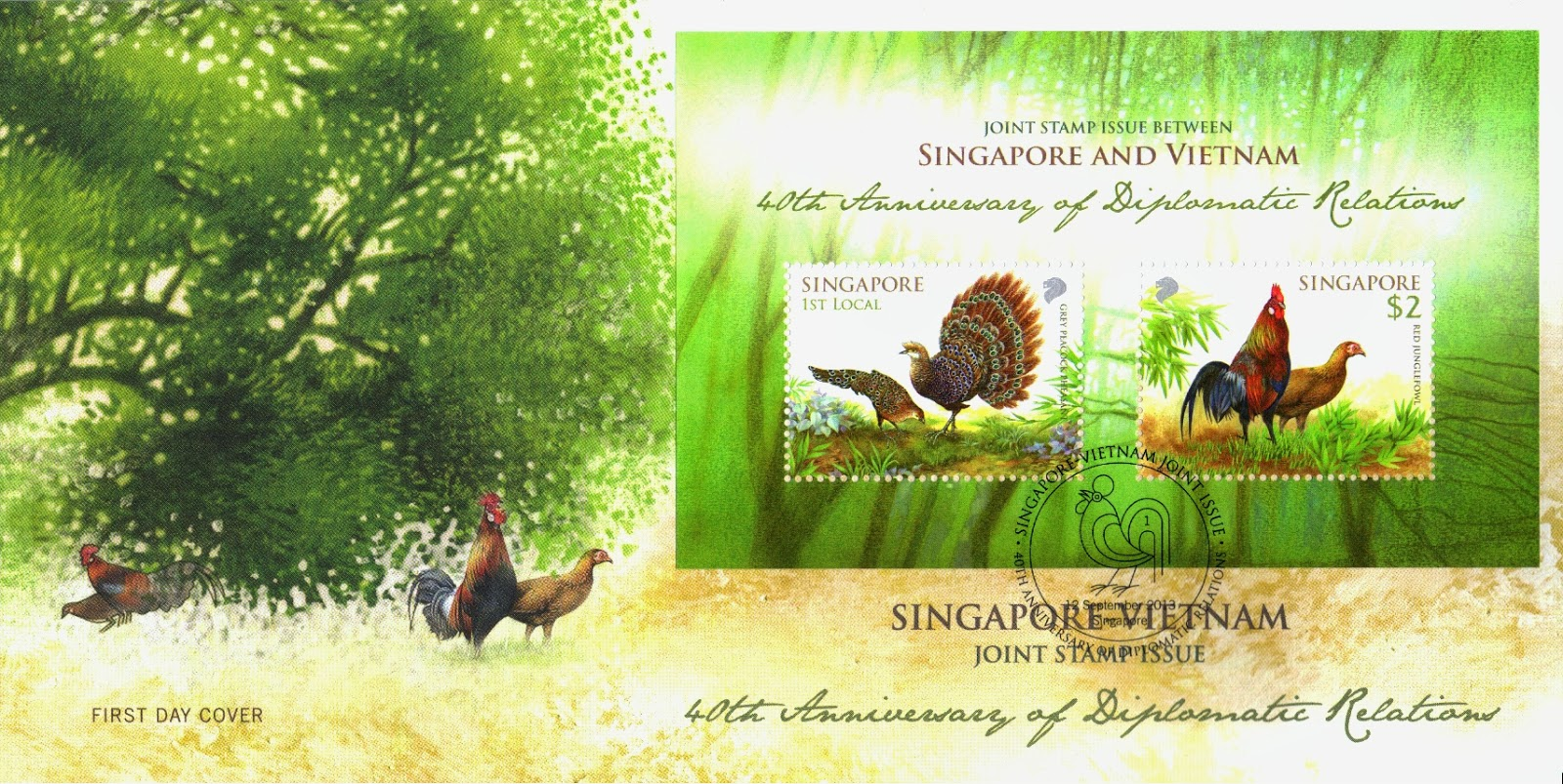 Pre-cancelled First-Day Cover affixed with miniature sheet (S$ 3.05*)