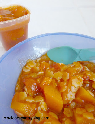 Butternut squash & tomato pasta sauce, weaning recipe, dairy free, soya free, CMPA
