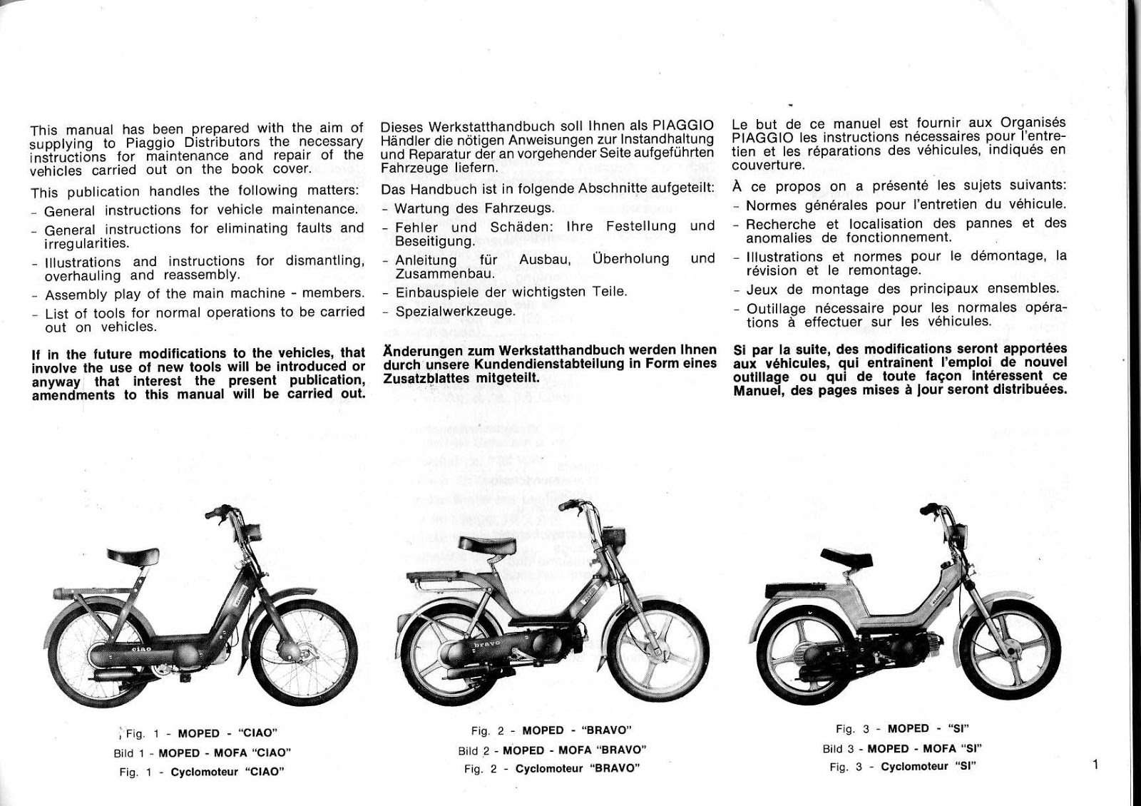 restored motorcycle style vespa bravo si ciao manual rh restoredstyle blogspot com 1978 Vespa Bravo Parts vespa piaggio bravo service manual