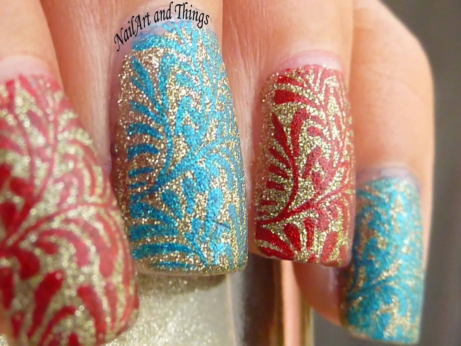 NailArt and Things: Alternate Nails + Konad M83 Stamping Nail Art