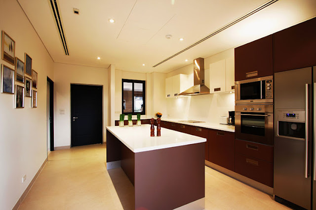 Photo of modern kitchen inside of modern villa in Phuket