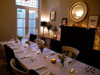 The dining room, One Mile Bakery Supper Club Cardiff