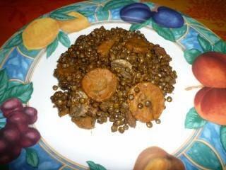 Lentilles vertes du Puy à la sauce tomate