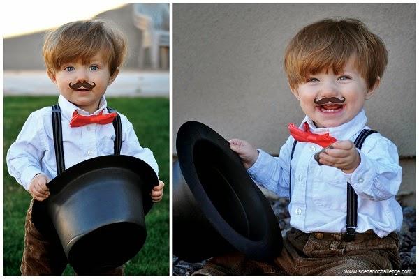 Photo bébé élégant avec moustache
