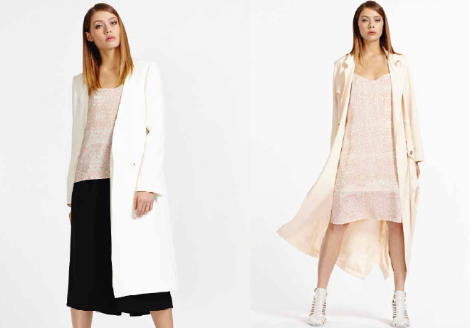 Debenhams, SS14, pastels, snakeprint, white coat, pink coat
