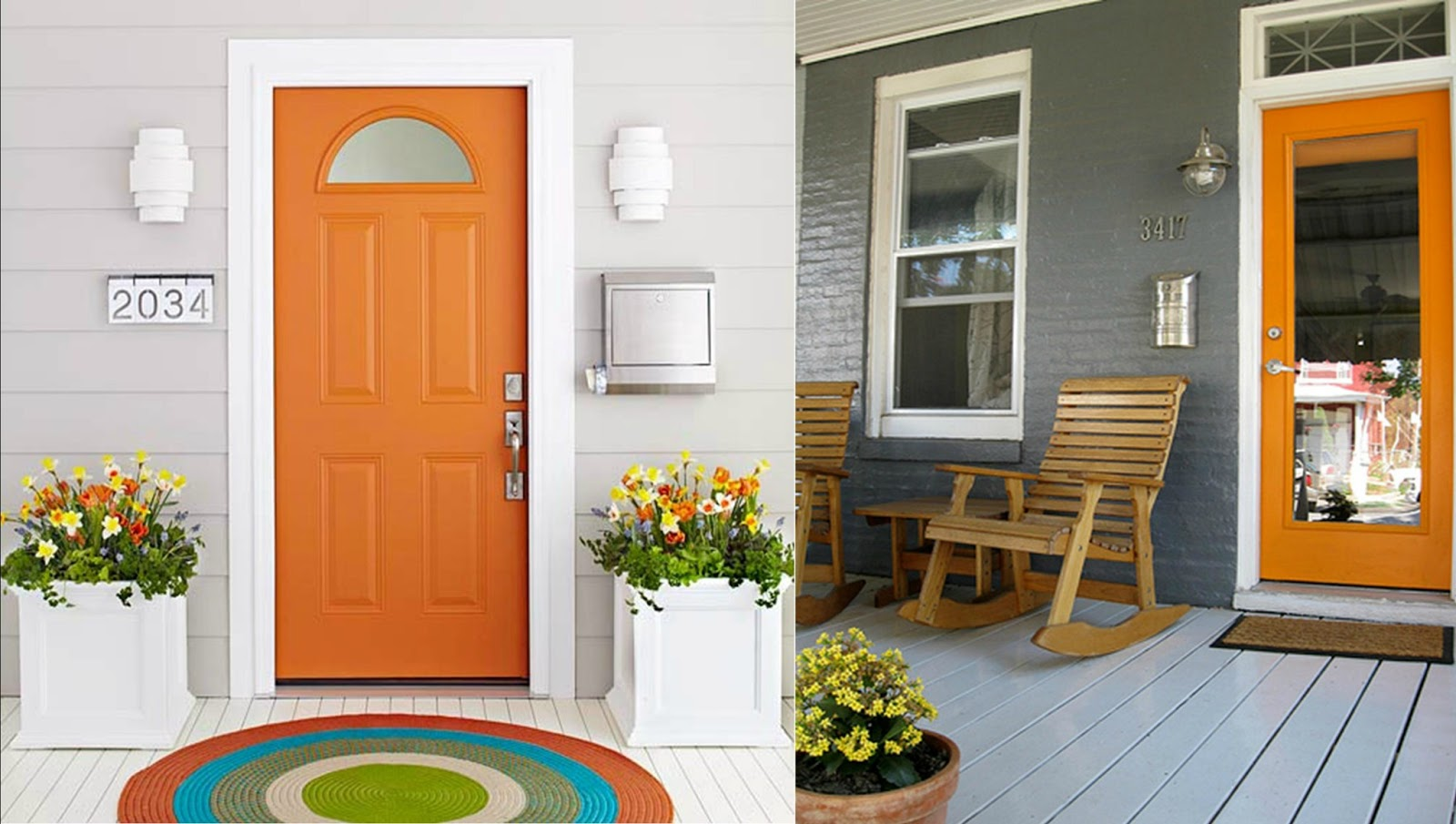I bought the perfect color of paint Benjamin Moore\u0027s Soft Pumpkin (its a smidge softer of an orange than the photos~ but perfect for me and my little door!) & MIDST: Orange you glad