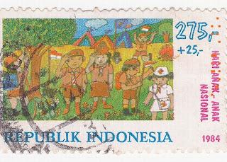 Perangko Hari Anak Nasional 1984 Rp 275