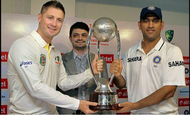 Indvsaus series 2013,Border-Gavaskar Trophy 2013,australia 2013,india 2013 images,indian cricket 2013,clarke and dhoni,clarke india 2013,indvsaus2013,indvsaus trophy,india vs australia live