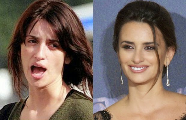 بينلوبي كروز - penelope cruz - shocking celebrities without makeup photoshop
