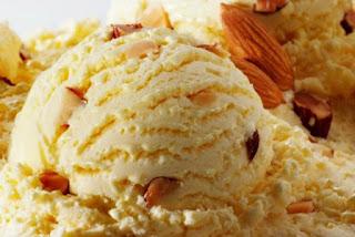 Receta de helado de almendra