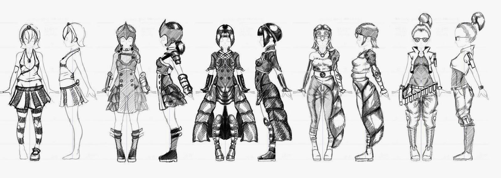 My Progress Portfolio Game Concept Art And Animation Costume
