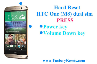 Hard Reset HTC One (M8) dual sim
