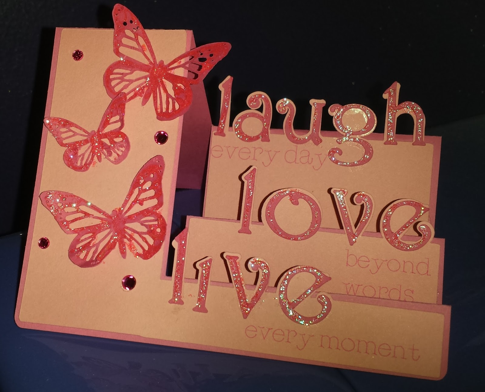 Birthday Cards Live ~ Melody lane designs live love laugh step card